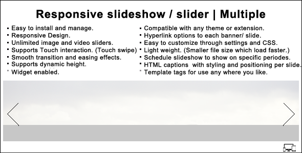 Responsive slideshow WordPress plugin | Multiple